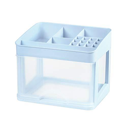 Yardwe Makeup Cosmetic Organizer Desktop Makeup Jewelry Storage Drawer Display Box Case with Compartments Light Blue Single Deck