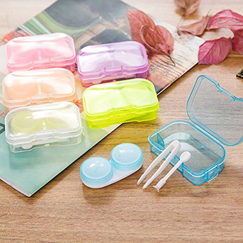 storage baskets-closet organizer-camera bag-Candy Color Contact Lens Case Portable Container Holder Eyewear Bag Storage Boxes Travel Kit-cube organizer-camera lens case by Randall Elliott