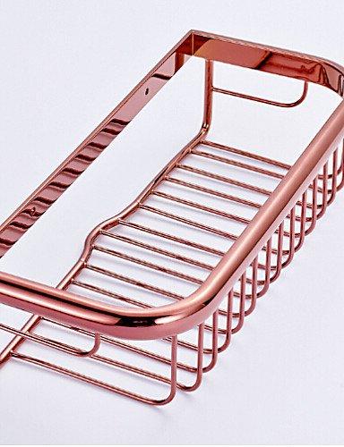 2016 MEIREN new arrival elegant design style functional Rose Gold Finish Brass Wall-mounted Storage Basket