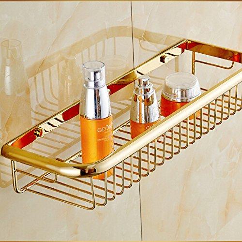 IYUEGO Gold-Plated Finish Brass Wall-mounted Storage Basket