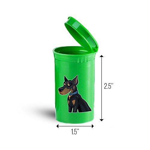 Doberman Breed Dog Storage Organizer Drug Pill Case ID 1265G