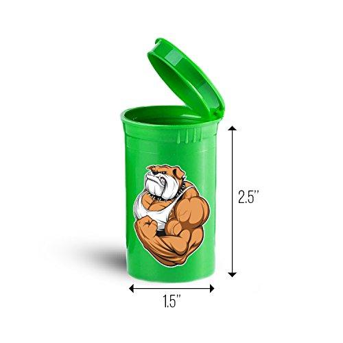 Muscular Bulldog Storage Organizer Bin for Vitamins Supplements Health Supplies ID 1704G
