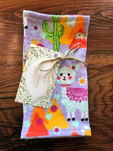 Purple Llama Fabric Lunchbox Napkins