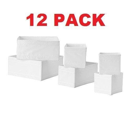 Ikea Drawer Storage Organizer Box Bin Tote White 12 Piece