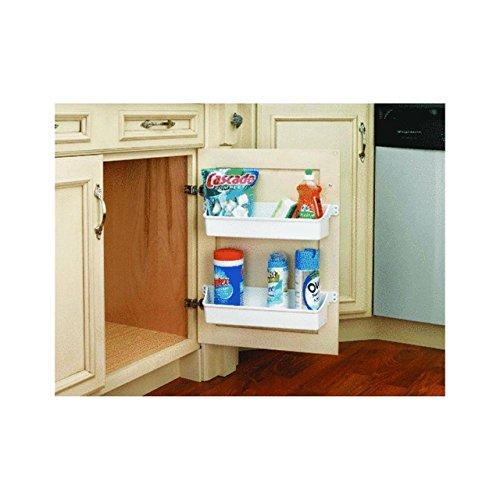 Generic YZ_725238YZ_7 Kitchen Shelf Shelf Door Storage binet Organizer Tray Rack USA e Pla Home Organi Cabinet 2 White Plastic YZ_US7_160510_1220