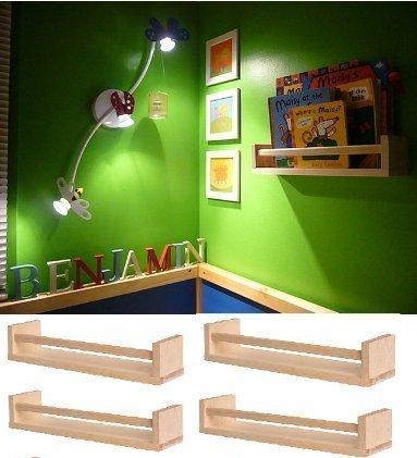Ikea 4 Wooden Spice Rack Nursery Book Holder Kids Shelf Kitchen Bathroom Accessory Storage Organizer Birch Natural Wood Bekvam Garden Lawn Maintenance