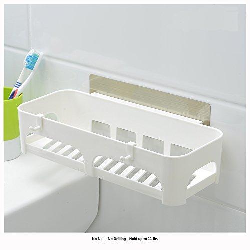 Catch 101 All Purpose Bathroom Kitchen Wall Caddy Basket Storage Organizer w Removable Bracket - Kitchen Storage Organizer Shower Caddy Garage Organizer etc