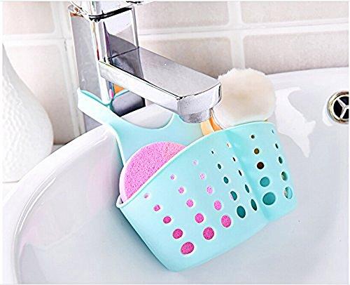 Silicone Kitchen Storage Organizer Utensil Organizers Sponge Sink Holder Blue