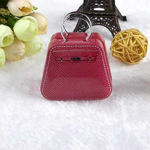 DZT1968 Mini Metal Candy Trinket Jewelry Iron Tea Coin Storage Square Case Box Hot pink