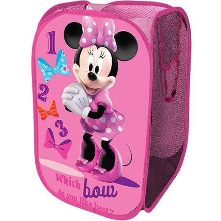 Disney Collapsible Storage Square Pop Hamper Laundry Bag Minnie Mouse