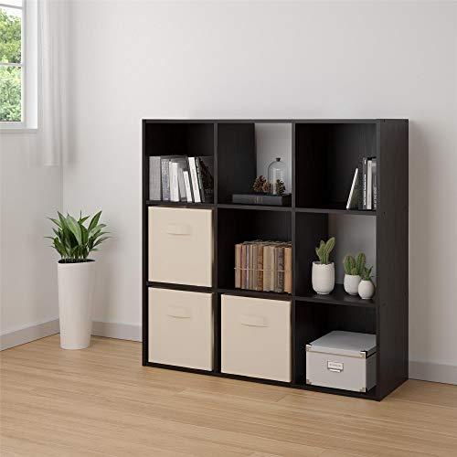 Ameriwood Home RealRooms Tally 9 Cube Bookcase Espresso