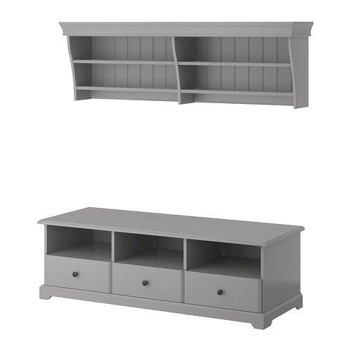 Ikea TV storage combination gray 10202826232230