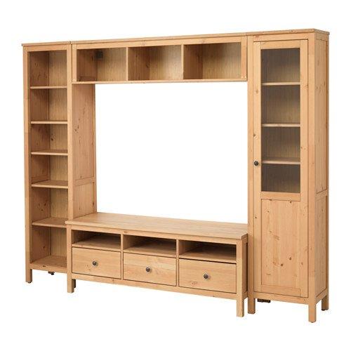 Ikea TV storage combination light brown 62042112026