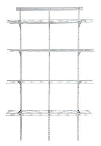 ClosetMaid 2845 ShelfTrack 4ft Pantry Organizer Kit White