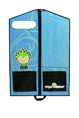 Organizables Childrens Hanging Clothes Organizer Single Garment Bag for Boys Blue