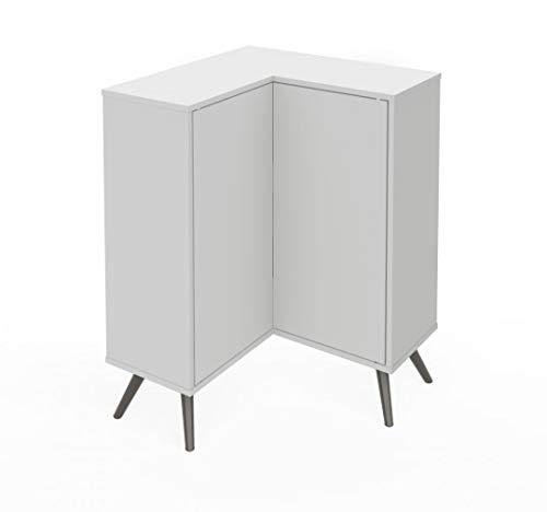 Bestar Corner Storage Cabinet with Metal Legs