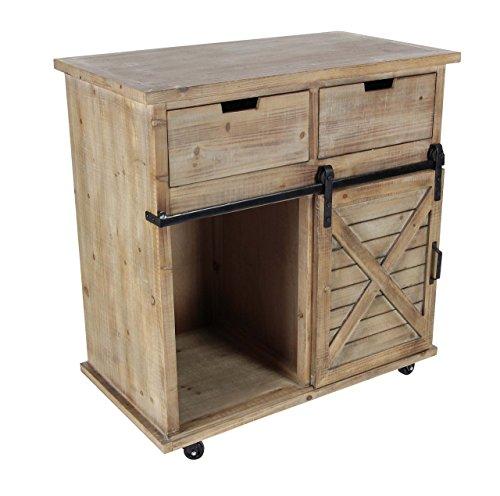 Deco 79 3334 Wood And Metal Storage Cabinet BrownBlack