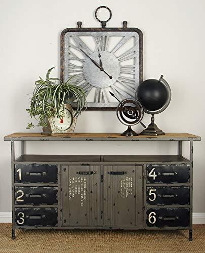 Deco 79 55484 Metal Storage Cabinet 56 x 30 Dark Brown