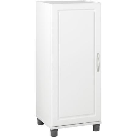 SystemBuild Single Door Storage Cabinet Stackable White 7369401PCOM