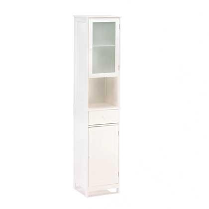 Tall White Storage Cabinet