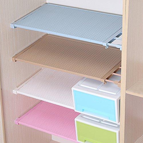 HyFanStr Adjustable Cupboard Shelf Organizer Wardrobe Storage Rack