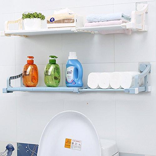 VANCORE Adjustable Bathroom Storage Shelf Separator Wardrobe Cupboard Rack Wall Mounted White