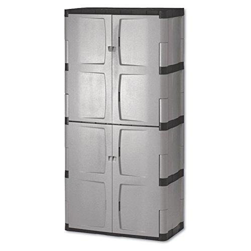 RHP7083 - Double-door Storage Cabinet - Basetop 36w X 18d X 72h Grayblack