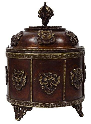 Antique Indian Vintage Brass Box Decorative Trunk Storage Box