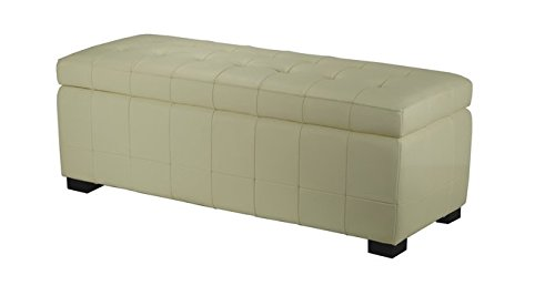 Safavieh Manhattan Indoor Leather Large Off-white Storage Bench