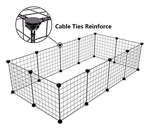 Tespo Wire Storage Cubes Modular Shelving Unit DIY Metal Grid Closet Organizer System Bookcase Cabinet 6 Cubes