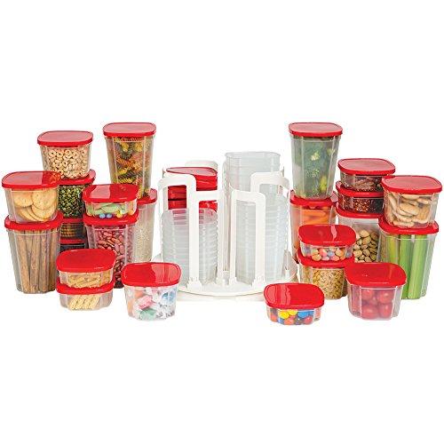 49-Piece Swirl Around Food Storage Container Organizer With Carousel ASOTV