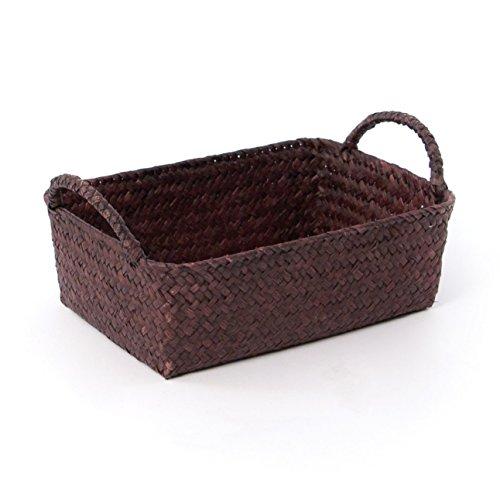 Skalny 822752BRN Brown Rectangle Seagrass Storage Baskets
