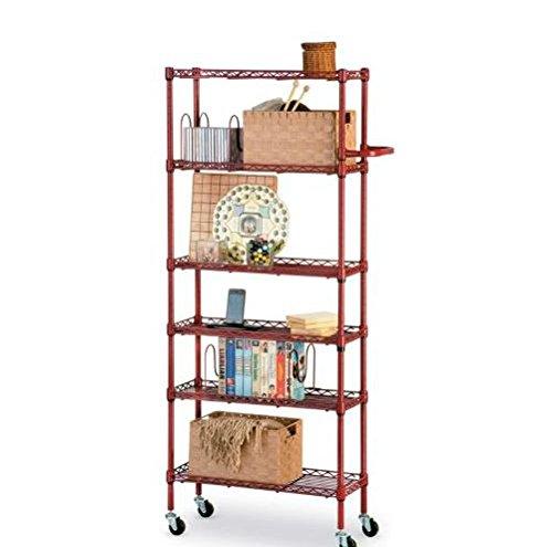 6 Shelf Pantry Rack - Red