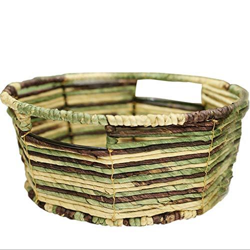 QIANDING SNL Corn Paper Storage Basket Small Basket Key Remote Control Frame 28x12cm Storage Basket Color  Green Size  28x12cm