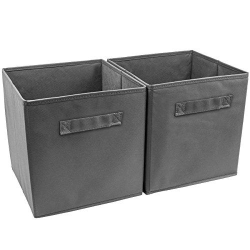 Foldable Storage Cube Basket Bin 2Pack 2 Pack Grey