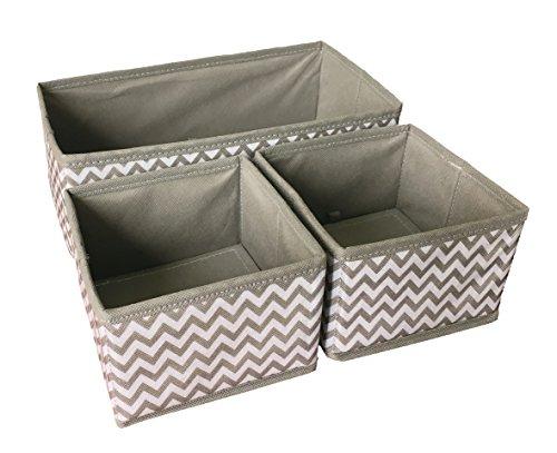 Sodynee Foldable Storage Box Drawer Closet Dresser Organizer Cube Basket Bins Containers Divider for Underwear Bras Socks Ties Scarves 3 Pack