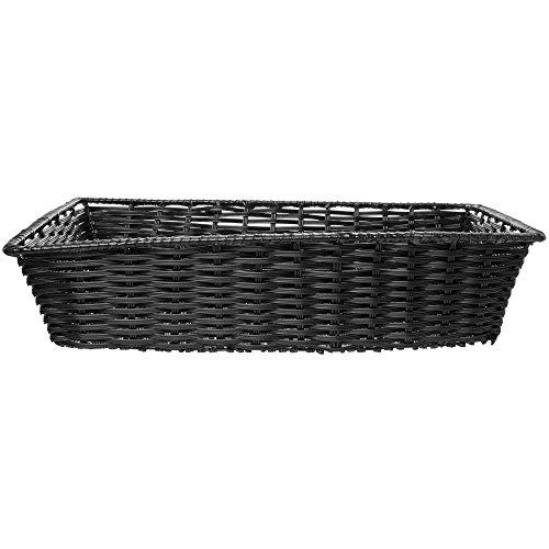 Tri-Cord Washable Large Wicker Basket in Black 18L x 26W x 6H