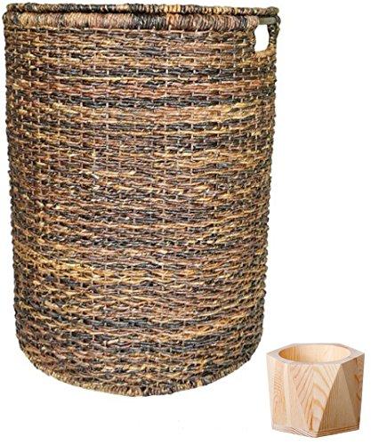 Wicker Hamper - Dark Global Brown Large wicker basket Large baskets Laundry Baskets Huge basket - Threshold