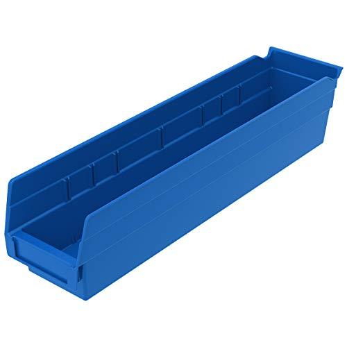Akro-Mils 30128  Plastic Nesting Shelf Bin Box Blue Case of 1218-Inch by 4-Inch by 4-Inch