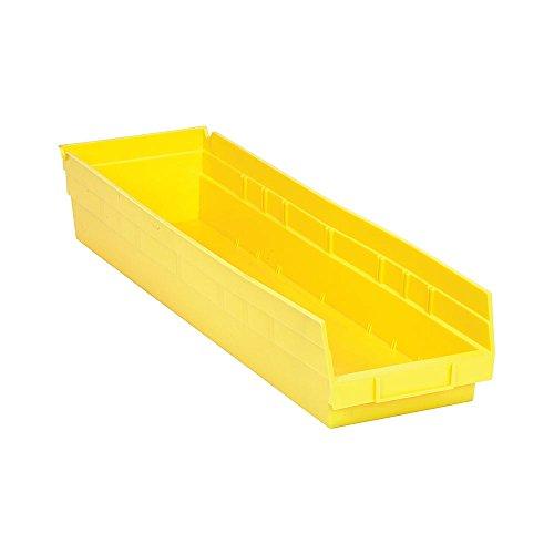 Quantum QSB106YL Yellow Economy Shelf Bin 23-58 x 6-58 x 4 Size Pack of 8