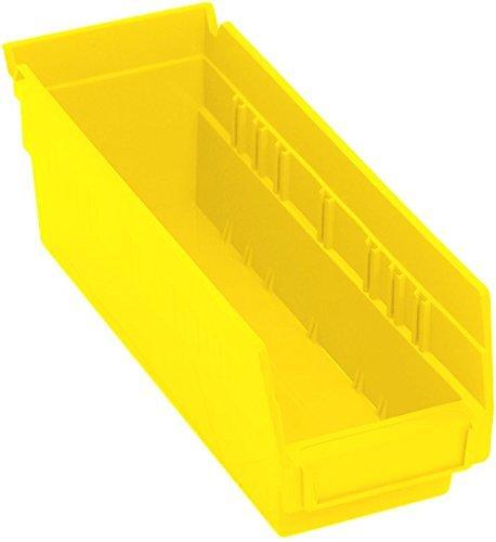 Quantum Storage Systems K-QSB101YL-10 Economy Shelf Bins 11-58 x 4-18 x 4 Yellow Pack of 10