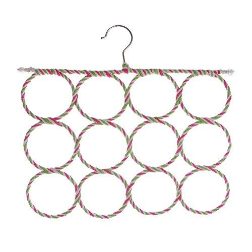 RoseSummer 12 Ring Scarf Holder Tie Hanger Belt Closet Clothes Organizer Hook Storage