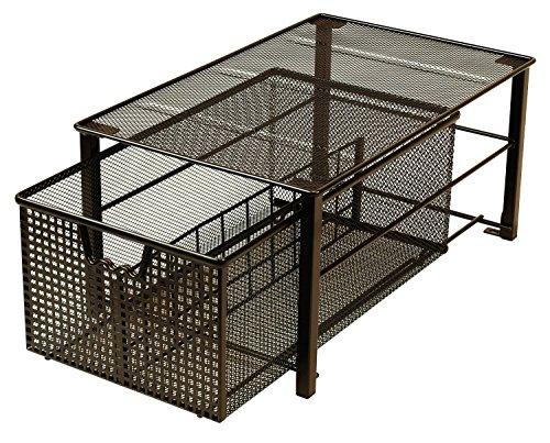 DecoBros Mesh Cabinet Basket Organizer Bronze Large - 10 x 158 x 75