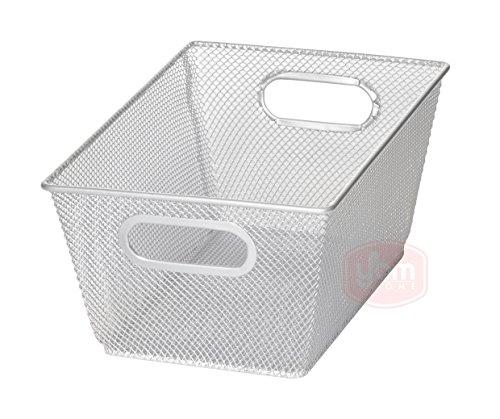 Silver Mesh Open Bin Storage Basket Organizer for Fruits Vegetables Pantry Items Toys Etc 98 X 65 X 45 1100