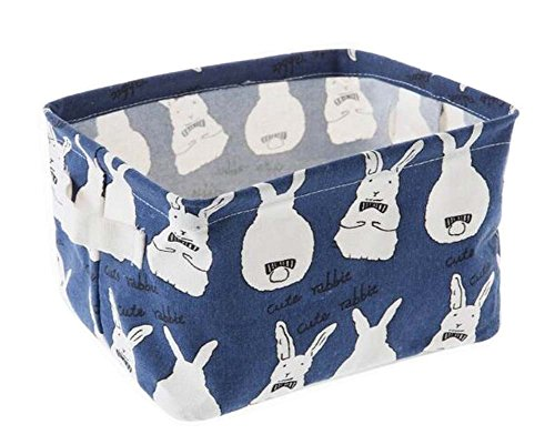 Linen Storage Basket Useful Household Storage Containers Blue