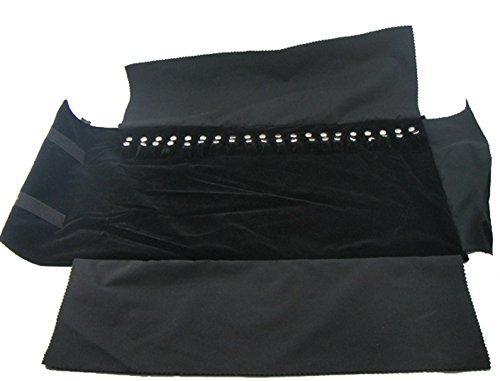 Velvet Necklaces Jewelry Roll Display Organizer Storage Bag Travel Retail Professional All Black