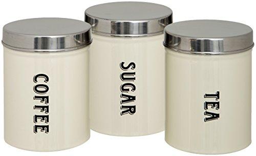 Maturi Tea Coffee Sugar Storage Canisters Set of 3