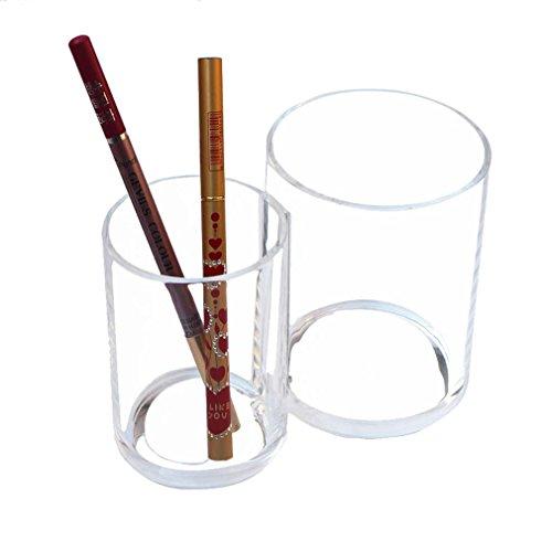 Mordoa Acrylic Makeup Organizer Transparent Desk Cosmetic Makeup Organiser Storage Box Lipstick Brush Holder Clear