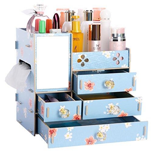 Cosmetic Storage Box DIY Wooden Desktop Storage Shelf