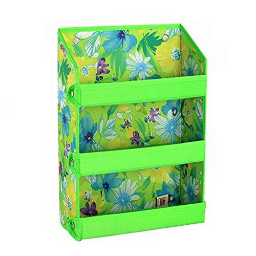 LJNGG Wall Storage Bag Oxford Hanging Basket Shelves Cosmetic Bathroom Bedroom Organizer Green